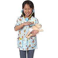 8-Piece Melissa & Doug Pediatric Nurse Role Play Costume Set with Baby Doll & Stethoscope