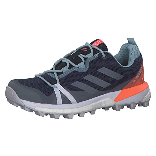 adidas Terrex Skychaser Lt GTX W, Zapatillas Deportivas Mujer, Tech Indigo Dash Grey Signal Coral, 39 1/3 EU