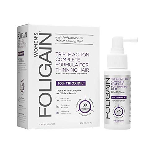 FOLIGAIN - Trattamento per la ricrescita dei capelli per donne con trioxidil al 10% - 59 ml
