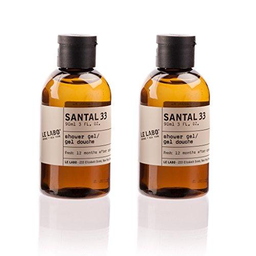 Le Labo Santal 33 Shower Gel lot of 2 each 3oz bottles. Total of 6oz