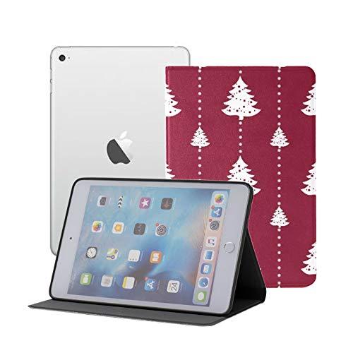 Compatible para iPad Mini 1/2/3 Funda, Slim Fit All Round Protect Cover Geometric Monochrome Christmas Winter Stand Angulos con Auto Sleep/Wake
