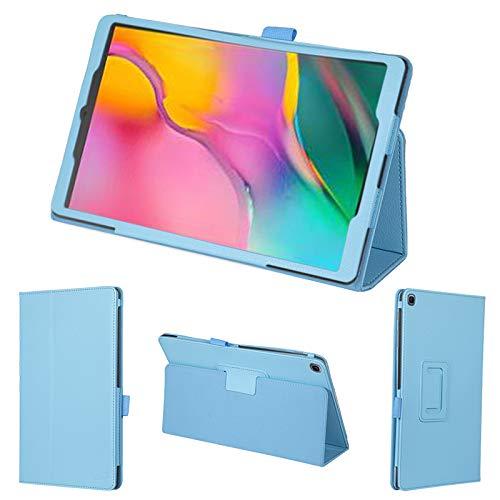 wisers タッチペン・保護フィルム付 Galaxy Tab A ケース Samsung サムスン J:COM ジェイコム 10.1 インチ タブレット カバー [2019 2020 年 新型] スカイブルー