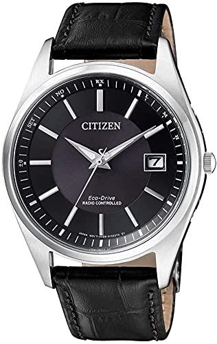 CITIZEN Herren Analog Solar Uhr mit Leder Armband AS2050-10E