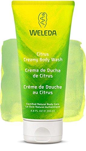 Crème de Douche vivifiante au Citrus - (Welda 200 ml) - Vous envoyez avec: un échantillon gratuit et une mini carte que vous pouvez utiliser comme marque de livre!