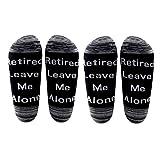 Calcetines de regalo para jubilación AATOP para hombre jubilado Leave Me Alone algodón calcetines para marido, papá, tío abuelo