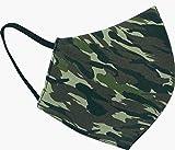 Mascarilla reutilizable y lavable hasta 50 veces de tela camuflaje color verde Ejercito militar talla L