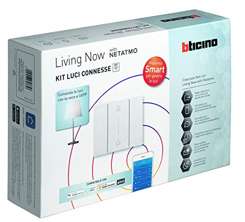 Bticino Kit Luci Connesse Living Now SK1000KIT (K4500C + 3 pezzi K4003C)