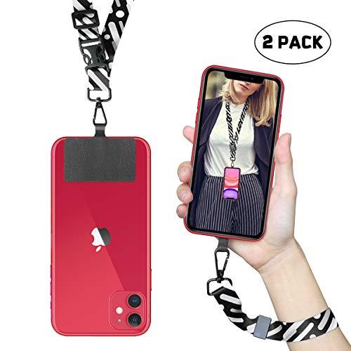 ROCONTRIP Cordón para teléfono Correa de Cuello con Parche Cordón con Correa para el Cuello Desmontable Compatible con la mayoría de los teléfonos Inteligentes para iPhone Google Pixel LG HTC Huawei