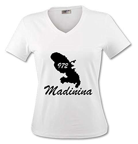 YONACREA - T-Shirt Col V Adulte - Martinique - 972 - L