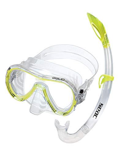 Seac Schnorchelset Giglio MD - mittlere Größe - Set für das Schnorcheln und Tauchen, Tauchermaske Giglio MD und Schnorchel Miniflash, 100% Silikon