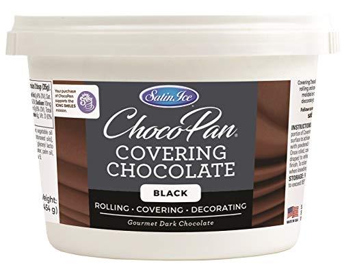 Satin Ice ChocoPan Black Covering Chocolate, 1 Pound