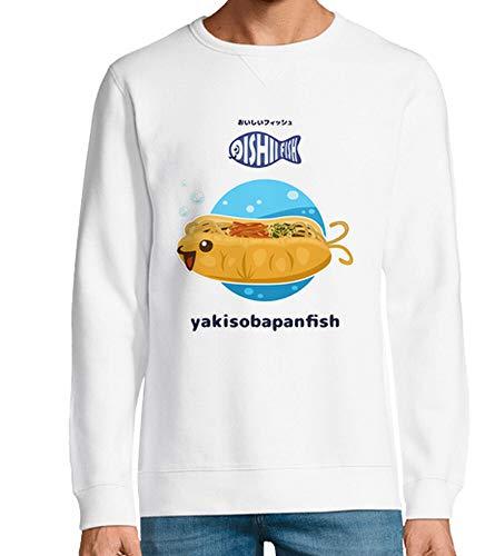 tostadora - Hoodie Yakisobapapanfish - Manner und Frauen Weiß S