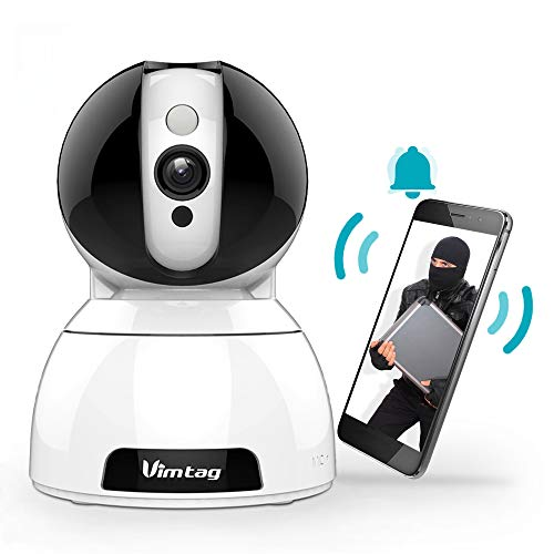 WLAN IP Kamera mit 1080P FHD, Vimtag Überwachungskamera Innen Home und Baby Monitor mit Bewegungserkennung, Nachtsicht, 2-Wege-Audio, 350°/100°Schwenkbar - Baby Kamera Haustier Cam
