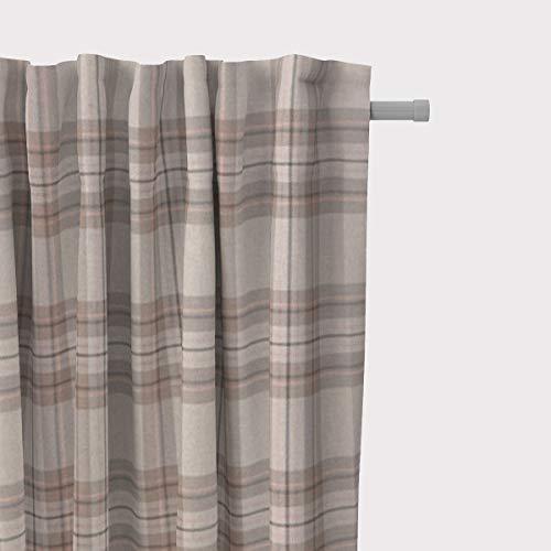 Mooi leven. Gordijn Schotse ruiten natuur roze bruin 245cm of gewenste lengte