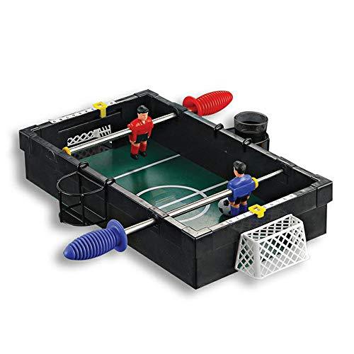 Piarner Schwarz Double 2 Pole Fußball Tabletop Spielzeug Eltern-Kind-Interactive Entertainment Freizeit Spielzeug-Set Junge und Mädchen Early Education Puzzle Tischfußball