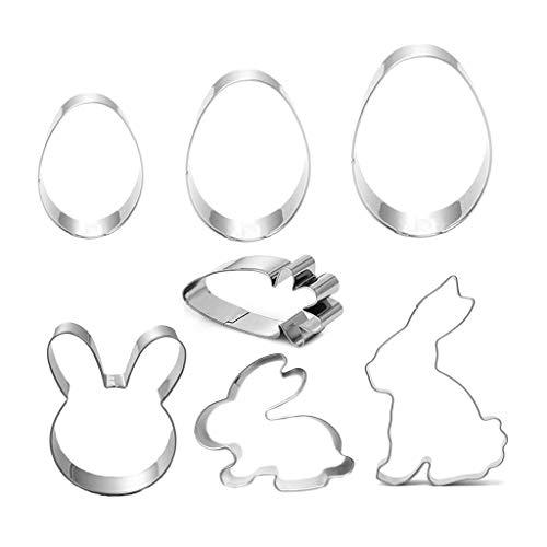 Yunso Lot de 7 emporte-pièces en Acier Inoxydable pour Pâques