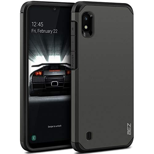 BEZ Handyhülle für Samsung Galaxy A10 Hülle, Tasche Stoßfestes Kompatibel für Samsung A10, [Heavy Duty Serie] Outdoor Dual Layer Armor Hülle Handy Schutzhülle Robuste, Grau