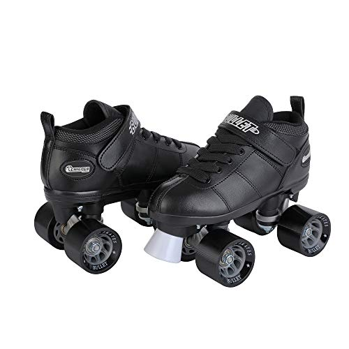 National Sporting Goods - Chicago Bullet Men's Speed Roller Skate - Black Size 5