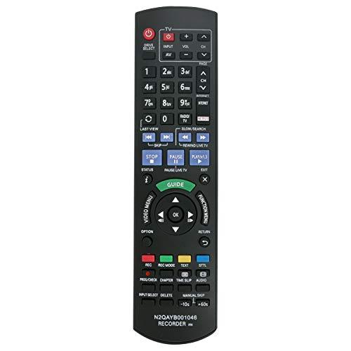 VINABTY-Fernbedienung N2QAYB001046 Ersatz für Panasonic Blu-ray-Recorder DMR-PWT550 DMR-BST730 DMR-BWT750 DMR-BWT750GL DMR-BWT735 DMR-BST820 DMR-BCT750 DMR-BST720 DMR-BST721