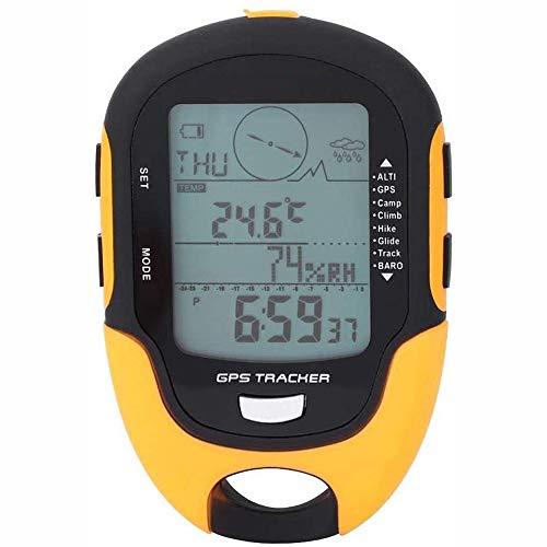 LHFD Navigazione GPS Portatile Mini da Esterno, Computer da Bici GPS Avanzato, Localizzatore Localizzatore Digitale Localizzatore Barometro Altimetro Localizzatore Bussola Multifunzione.