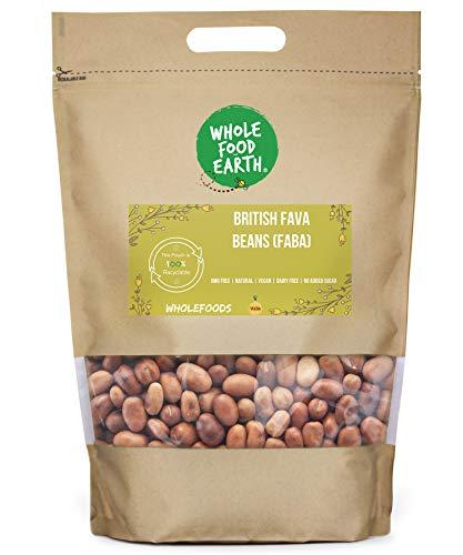 Wholefood Earth British Fava Beans (Faba) - GMO Free - Natural - Vegan - Dairy Free - No Added Sugar, 500 g