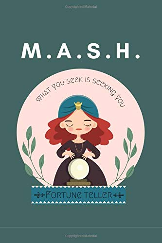 MASH Fortune Teller: Fun Games For Party Game ~ Discover Your Future ,Classic Activity Workbook for Teens And Adults And Girls , Play with Friends ,Perfect for a Slumber Party