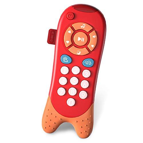 Richgv Control Remoto Bebe, Juguete de teléfono Musical, Juguetes para bebés con Luces de Flash, Sonidos y Canciones (Rojo)