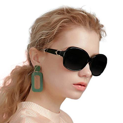 EFE Oversized Polarized Sunglasses for Women - Vintage Style Designer Dark...