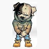 Anbugang Fun Dog Cartoon New York Cali Timbs Gangster Ny