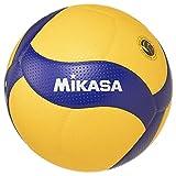 MIKASA Pallone Volley Gara V300W, Unisex Adulto, Blu/Giallo, 5
