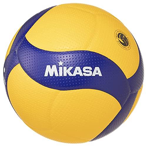 MIKASA V300W Ballon Volleyball Adulte Unisexe, Jaune/Bleu, 5