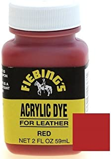 Fiebings Acrylic Dye For Smooth Leather Water Resistant Quick Dry Red
