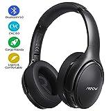 Mpow H19 IPO Auriculares con Cancelación de Ruido con Bluetooth 5.0, 30 Horas de Reproducir, Carga Rápida, Auriculares Diadema Bluetooth con Micrófono CVC 8.0, Auriculares Plegable para Móvil/TV/PC