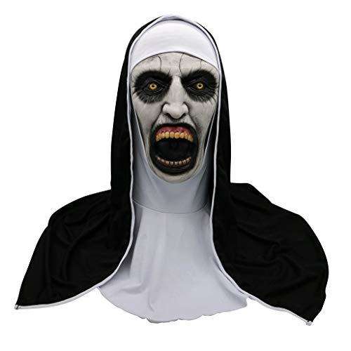 F Fityle Mscara de Halloween mscara de Monja mscara de Zombie para Ropa de Adultos artculos de Vestir Locos
