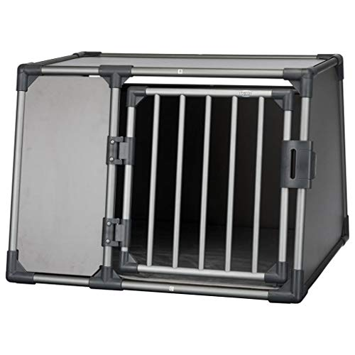 Trixie 39338 Transportbox, Aluminium, L: 92 × 64 × 78 cm, graphit
