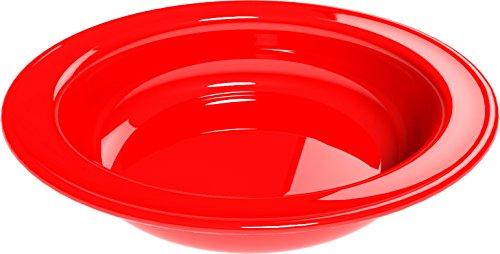 Ciotola Rosso, 4 pezzi in melamina Ø 18 cm