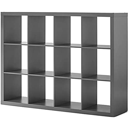 Better Homes & Gardens Gray(12-Cube) Storage Organizer, Multiple Finishes