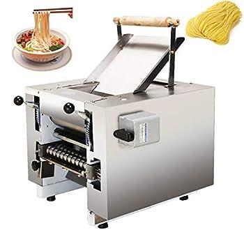 NEWTRY Electric Commercial Pasta Maker Machine Dumpling Dough Noodle Skin Maker 66lb/h Multi-function Noodle Pasta Spaghetti Roller Pressing Machine 550W  Round noodle 2mm blade