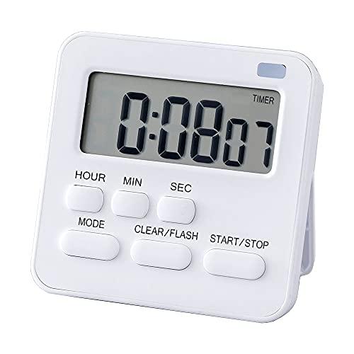 Küchentimer, Eieruhr mit Uhr, Küchenwecker Eieruhr Magnetisch, Timer Digital Stoppuhr mit LCD-Lautalarm zum Kochen, Backen, Sport, Lernen