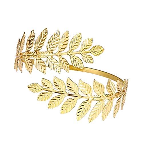 kowaku Swirl Tree Leaf Parte del Brazo Brazalete Brazalete Brazalete Brazalete Brazalete Ajustable - Dorado