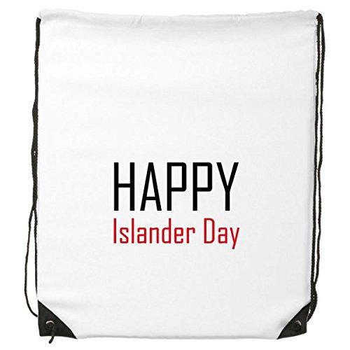 Mochila con cordón para celebrar el Día de las Islas del