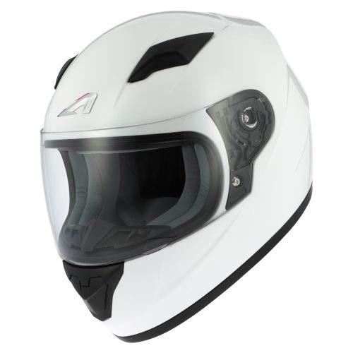 Astone Helmets - Casque moto GT2kid - Casque de moto homologué pour enfant - Casque intégral junior - Gloss white L