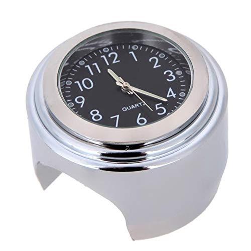 Reloj Moto, reloj moto mini Reloj de aluminio de motocicleta Reloj de manillar de motocicleta Impermeable universal con esfera luminosa Adecuado para vehículos con manillares de 22-25 mm