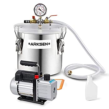 ARKSEN Vacuum Chamber (2 Gallon) with 4 CFM Pump
