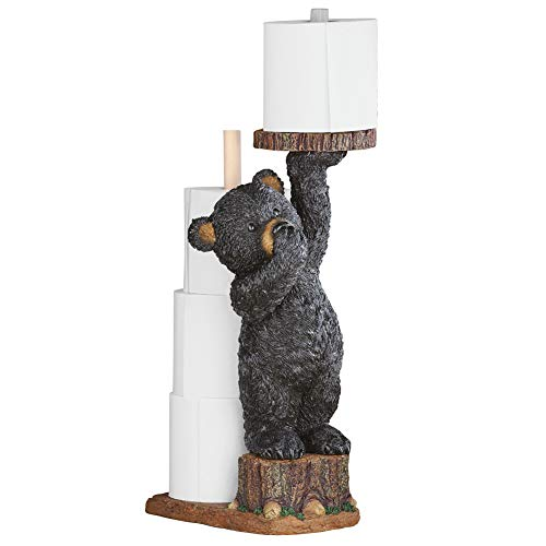 "Aurrra Northwoods Bear Cub Toilet Paper Holder, 22"" H"
