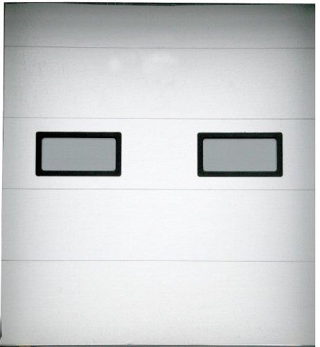 Fantastic Prices! American Garage Door - TFII-92X120-2W-2FVL - Embossed White Dock Door, Opening Hei...