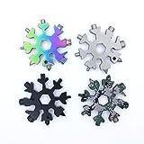 18-in-1 Multi herramienta copo de nieve,llavero multiherramienta(4 Pack)