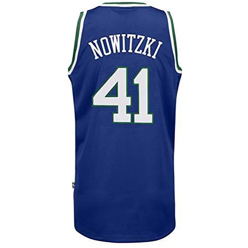 Dirk Nowitzki # 41 Männer Basketball Jersey Sport Retro Swingman Trikots Sleeveless Hemd (Color : 11, Size : M)