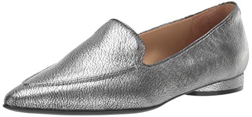 Naturalizer Women's Haines Slip-Ons Loafer, Pewter Leather,4 M US