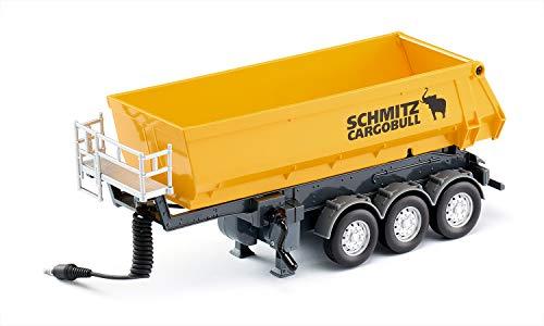 Siku 6734, 3-Achs-Kippsattelauflieger, 1:32, Metall/Kunststoff, Gelb, Ferngesteuert, Für SIKU CONTROL-Fahrzeuge mit Anhängerkupplung